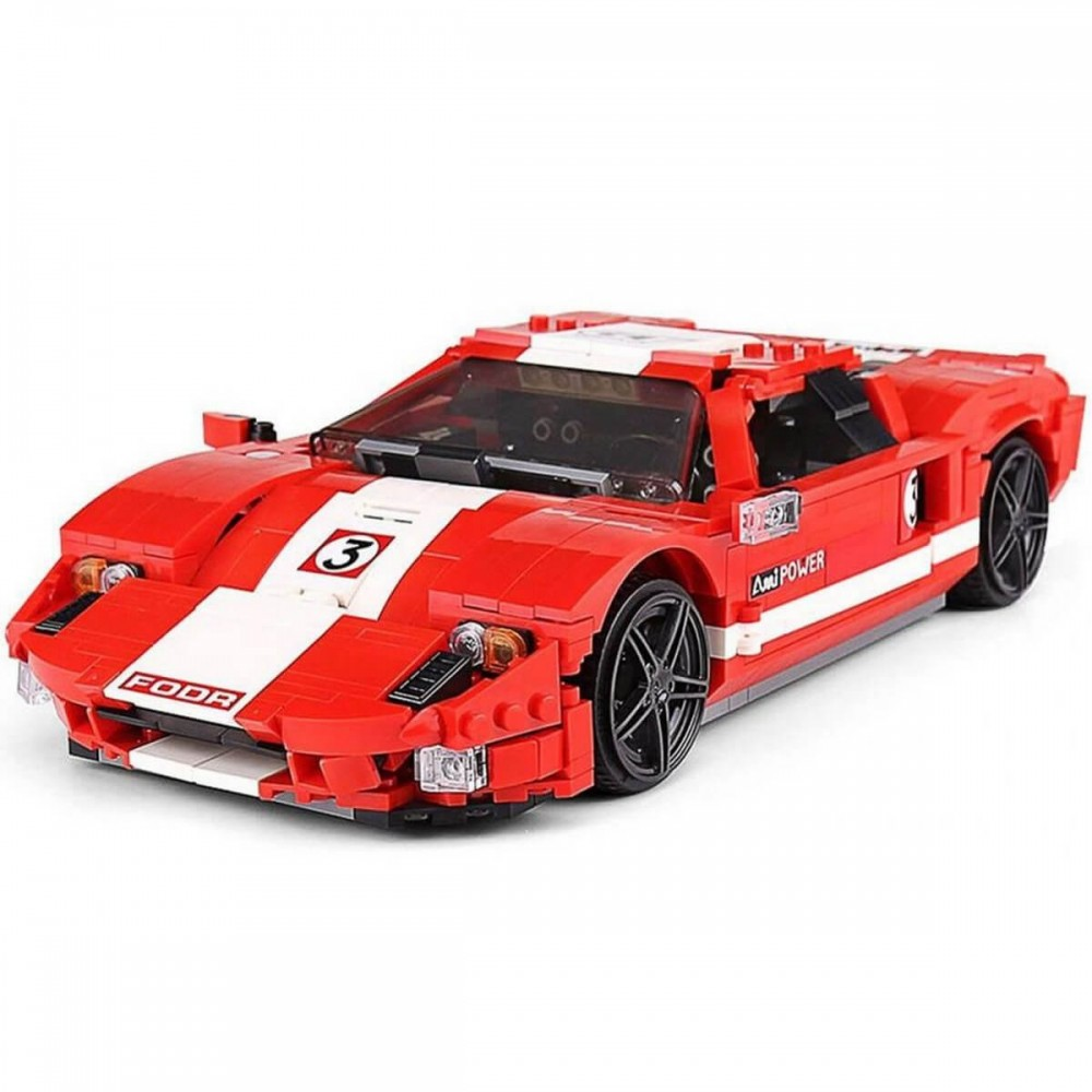 Спортивный автомобиль «Ford GT Красный Фантом», конструктор Mould King без радиоуправления