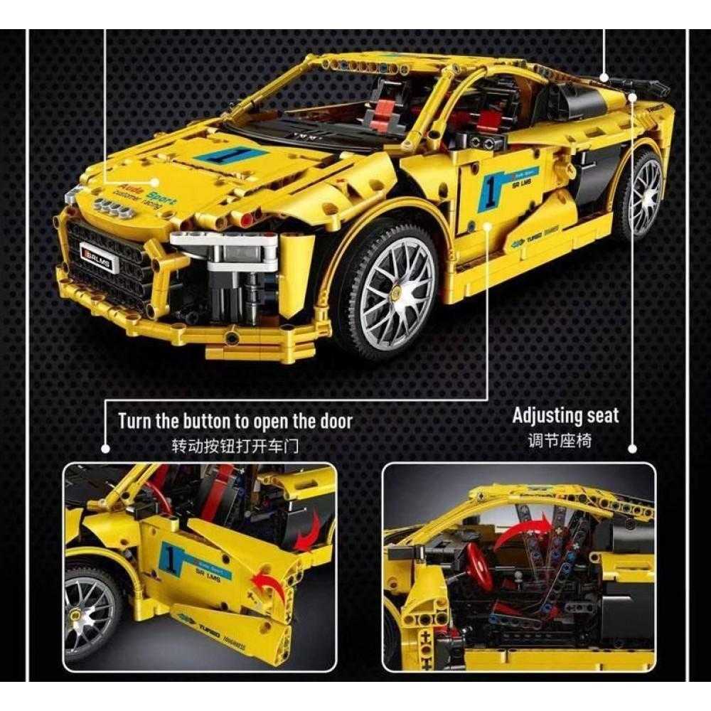 Спортивный автомобиль «Audi R8 V10», конструктор Mould King без радиоуправления