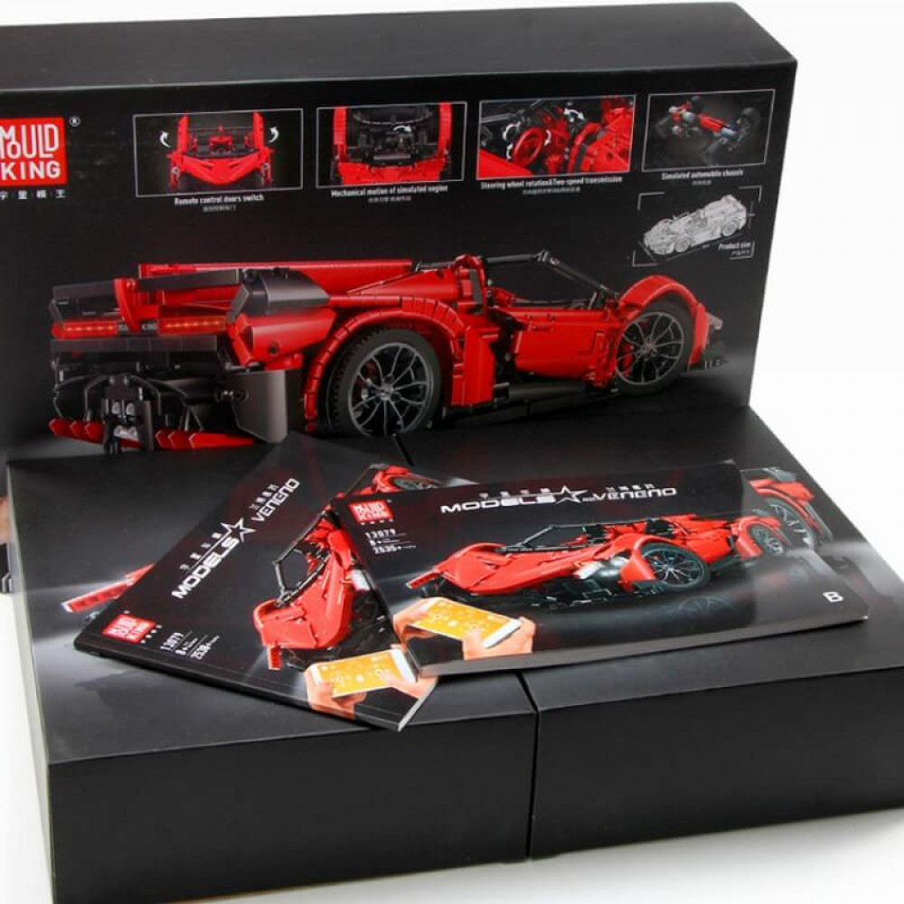 Спортивный автомобиль «Lamborghini Veneno Roadster», конструктор Mould King на радиоуправлении
