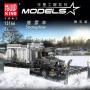 Снегоуборочный грузовик, конструктор Mould King на радиоуправлении