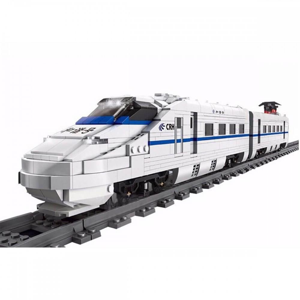Высокоскоростной поезд CRH2 конструктор Mould King на радиоуправлении
