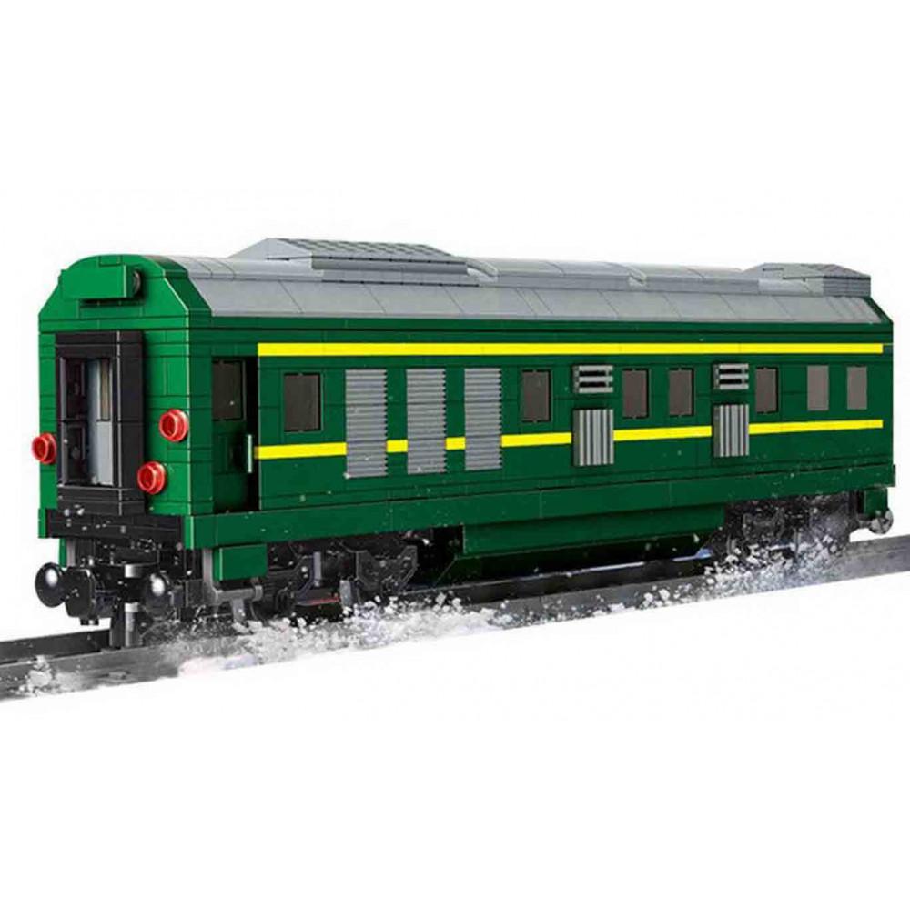 Пассажирский вагон для тепловоза NJ2 конструктор Mould King на радиоуправлении