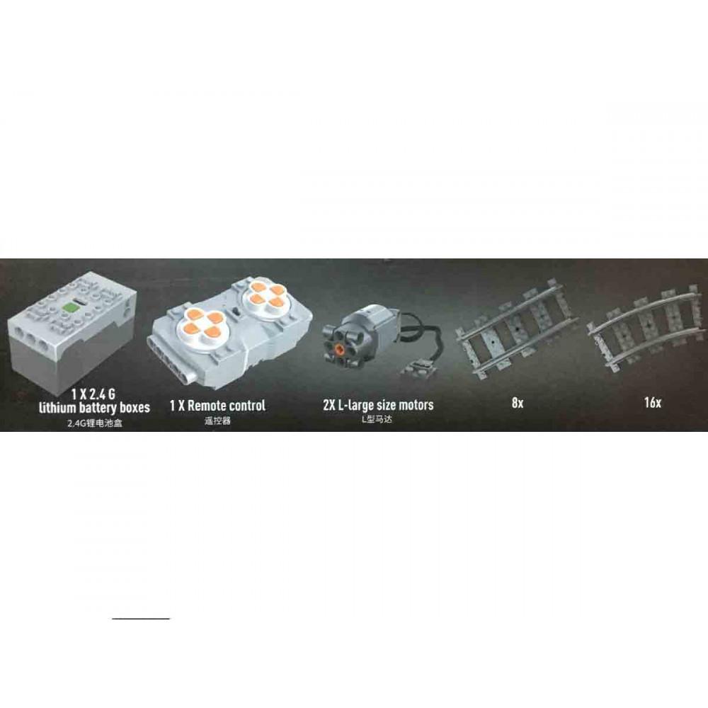 Грузовой паровоз QJ «Прогресс» конструктор Mould King на радиоуправлении