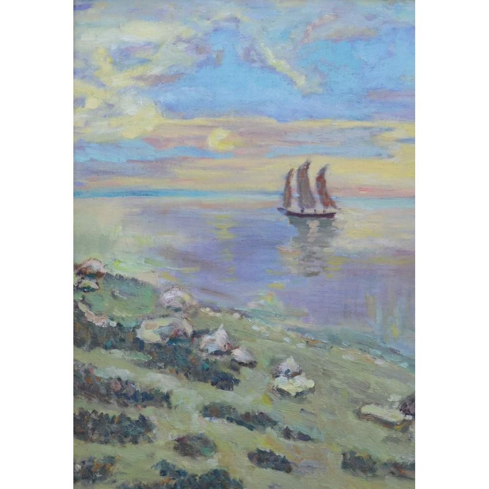 """Купить картину маслом """"Морской пейзаж"""" копия  40х30"""